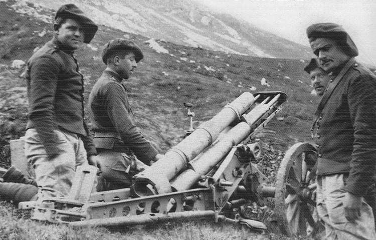CANON DE 65 MONTAGNE MODÈLE 1906 - Quartermaster Section